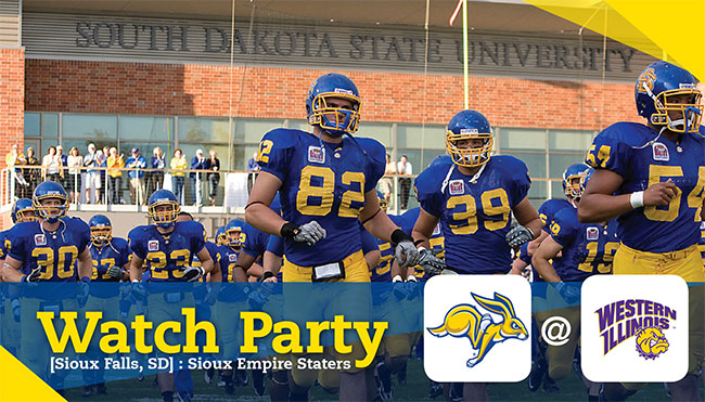 Sioux Empire Staters Watch Party - SDSU @ Western Illinois