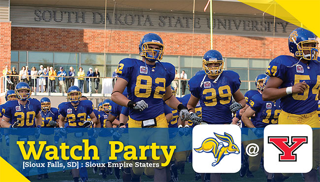 Sioux Empire Staters Watch Party - SDSU @ Youngstown State