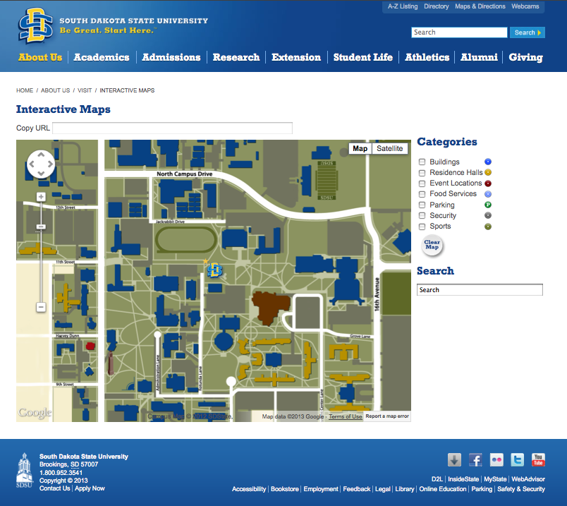 South Dakota State University  Maps